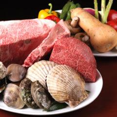 甲州牛と季節野菜